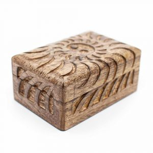 Storage Box Sustainable Wood Yin Yang Handmade (15 cm)
