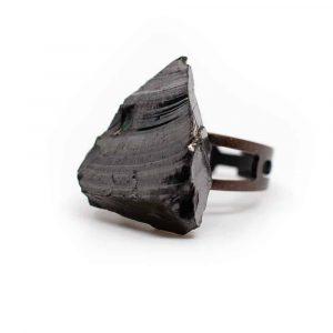 Elite Shungite Gemstone Ring Copper Adjustable