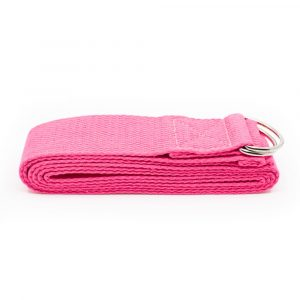 Yoga Belt D-ring Cotton Pink (183 cm)