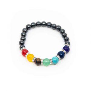 7 Chakra Gemstones Hematite Bracelet