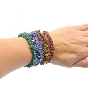 7 Chakra Chipped Stones Bracelet Set