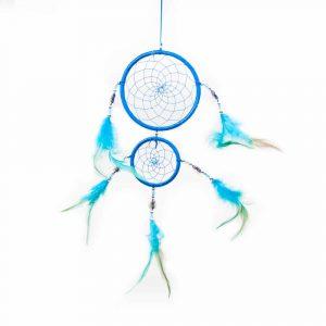 Mandala Dreamcatcher Round Blue (approx. 30 cm)