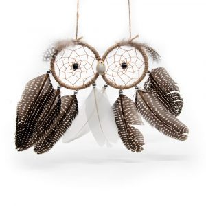 Dreamcatcher Owl Brown (approx. 23 cm)