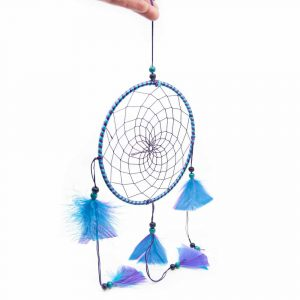 Mandala Dreamcatcher Round Purple/Blue (approx. 45 cm)