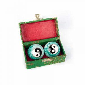 Meridian Balls Yin Yang White Green