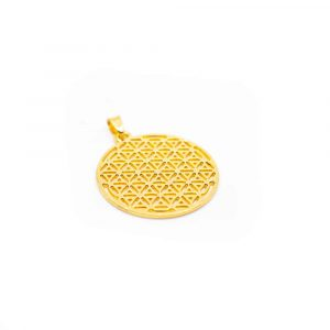 Flower of Life Pendant - Gold-coloured