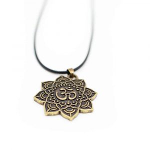 Ohm Mandala Necklace Tibetan - Gold-coloured