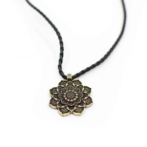 Tibetan Mandala OHM Pendant - Gold-coloured