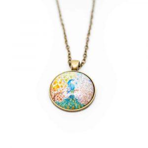 Talisman Peacock Mandala Necklace