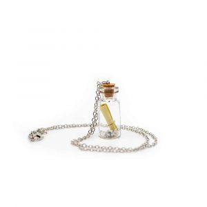 Wish Necklace Message in a Bottle Yellow