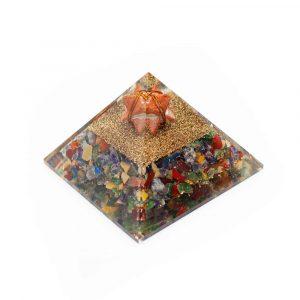 Orgone Pyramid Chakra Jasper with Jasper Mercaba (70 mm)