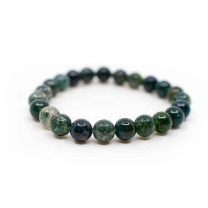 Gemstone Bracelet Moss Agate Green