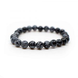 Gemstone Bracelet Snowflake Obsidian