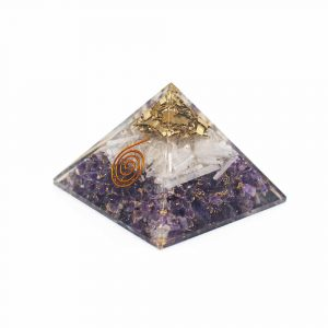 Orgonite Pyramid Amethyst & Selenite (70 mm)