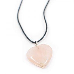 Gemstone Pendant Rose Quartz Heart