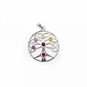 Tree of Life Pendant with Chakra Stones