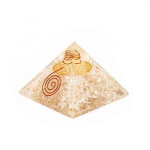 Orgon Pyramid Rock Crystal - Flower of Life (70 mm)