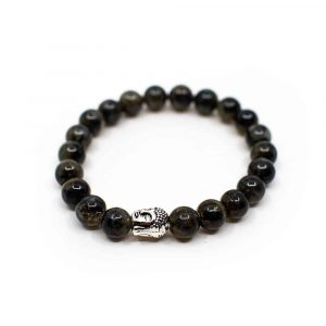 Gemstone Bracelet Labradorite with Buddha