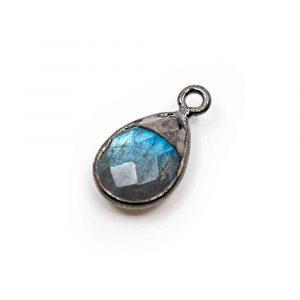 Gemstone Pendant Labradorite Pear - 925 Silver