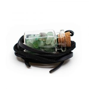 Gift Bottle on Wax Cord with Aventurine