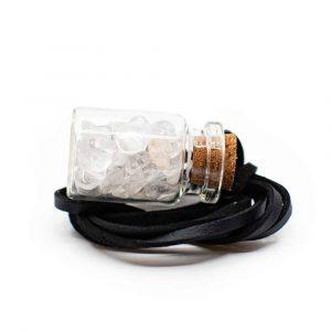 Gift Bottle on Wax Cord Rock Crystal