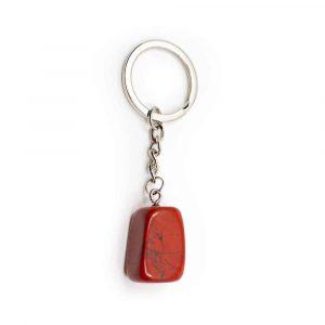 Keychain Red Jasper Silvery