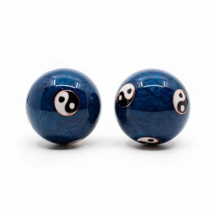 Baoding Massage Balls Yin Yang Large Blue