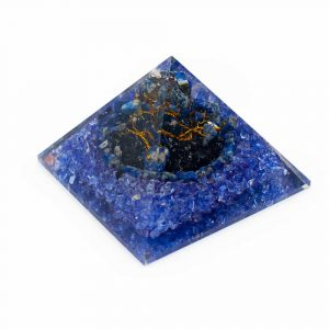 Orgone Pyramid Lapis Lazuli - Gemstone Tree (80 mm)