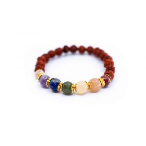 7 Chakra Rudraksha Bracelet