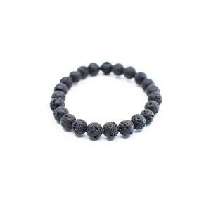 Gemstone Bracelet Lava Stone Elastic (18 cm)