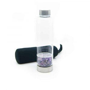 Spiru Gemstone Water Bottle Amethyst - 400 ml