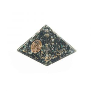 Orgone Pyramid Chrysocolla - Flower of Life (70 mm)