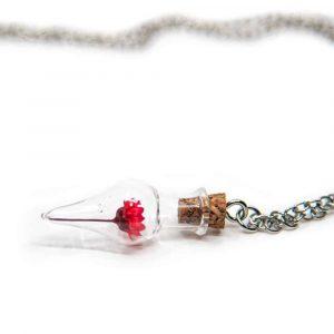Wish Necklace Mini Red Lotus