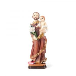 Image of Joseph with Child Jesus 13 cm