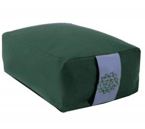 Yogi and Yogini Meditation Cushion Rectangular Cotton Green - 4th Chakra - 38 x 28 x 15 cm