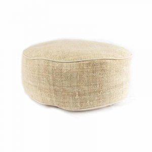 Yogi and Yogini Meditation Cushion Round Hemp Natural - 33 x 12 cm