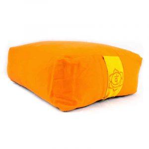 Yogi and Yogini Meditation Cushion Rectangular Cotton Orange - 2nd Chakra - 38 x 28 x 15 cm