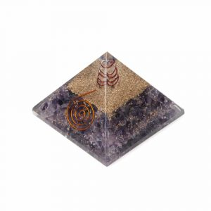 Orgonite Pyramid Amethyst - Copper Spiral (70 mm)