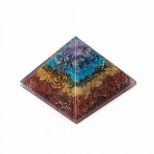 Orgonite Pyramid 7 Chakra - Copper Spiral (70 mm)