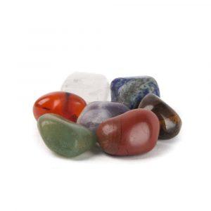 7 Chakra Drum Stones Set