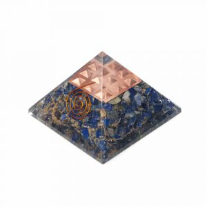 Orgonite Pyramid Lapis Lazuli - Copper Spiral (70 mm)