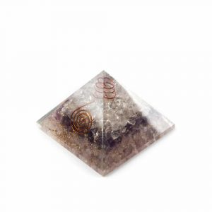 Orgonite Pyramid Amethyst/ Rock crystal/ Rose quartz (70 mm)