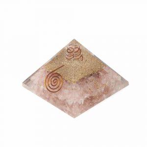 Orgone Pyramid Rose Quartz Copper Spiral (70 mm)