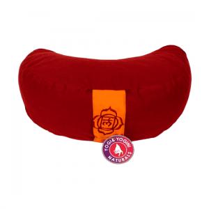 Yogi and Yogini Meditation Cushion Red Crescent Cotton - 1st Chakra - 33 x 13 cm
