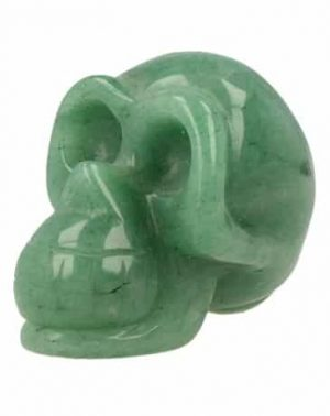 Gemstones Skull Aventurine Green (Small)