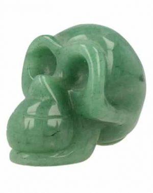 Gemstones Skull Aventurine Green (Small)