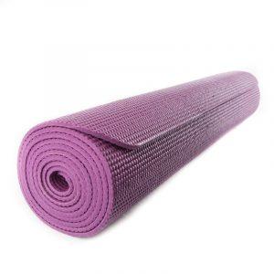 Yogi and Yogini Yoga Mat PVC Aubergine - 185 x 63 x 0.5 cm