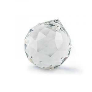 Rainbow Crystal Ball Transparent (40 mm)