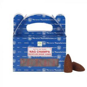 Satya Backflow Incense Cones Nag Champa (24 cones)