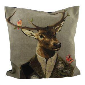 Gobelin Cushion Red Deer Hunter (45 x 45 cm)